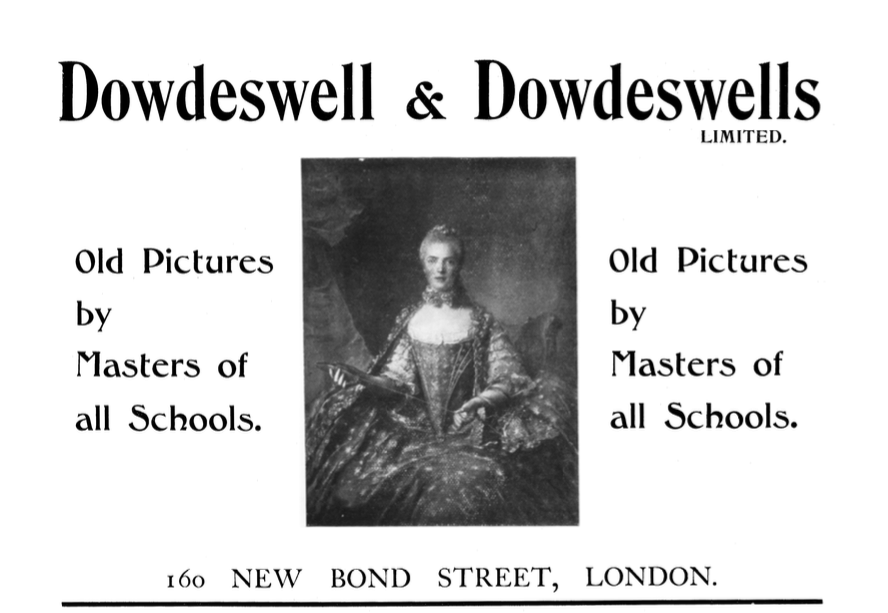 Dowdeswell and Dowdeswell Limited, Advertisement, The Burlington Magazine, September 1905.