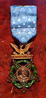 Joshua Lawrence Chamberlain 's Medal of Honor, 1893 <br />  Congressional Medal of Honor, awarded to Chamberlain in 1893 for his actions at Gettysburg, Pennsylvania, on July 2, 1863. <br /> Photo copyright Dennis Griggs.